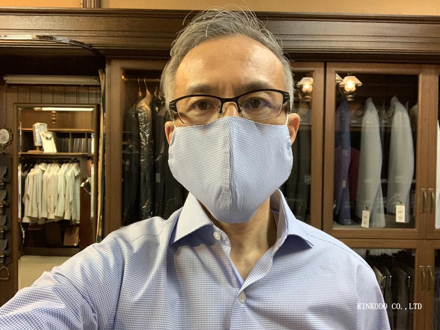 オーダーシャツ生地でお作りするお洒落マスク